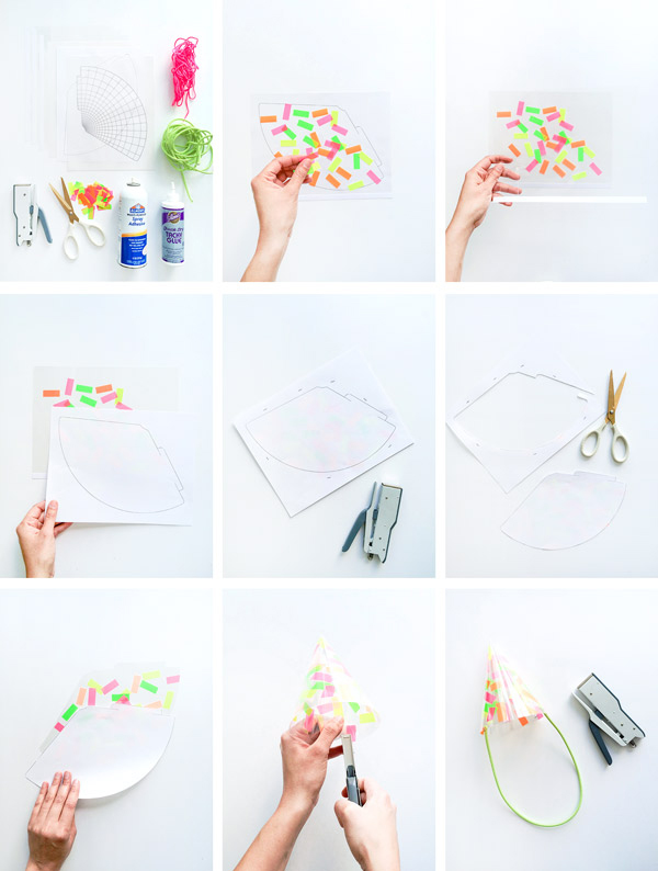 Neon Confetti Party Hats | Oh Happy Day!
