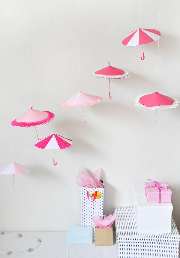 Shower umbrella decor for Decor umbrellas