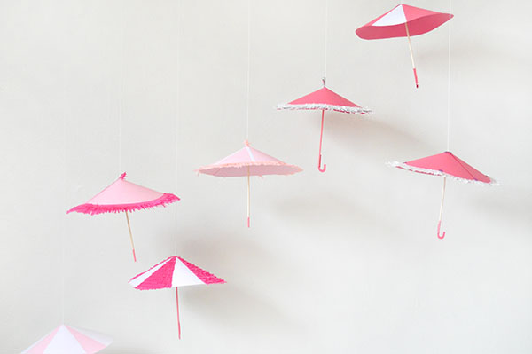 Shower Umbrella Decor | Oh Happy Day!
