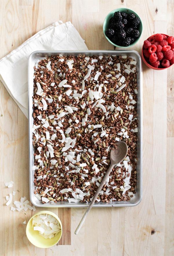 Cocoa Honey Granola Recipe   Oh Happy Day!