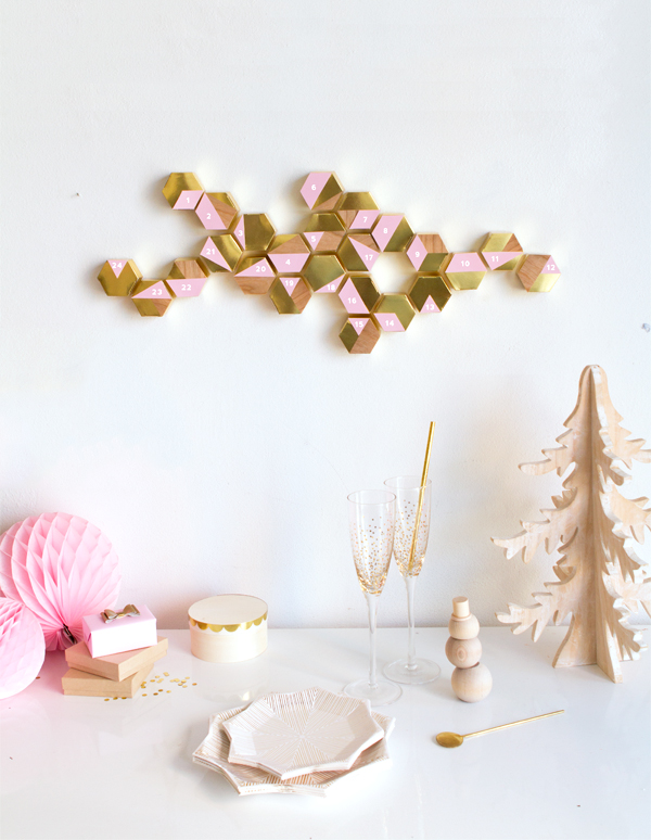 DIY Modern Hexagon Advent Calendar | Oh Happy Day!
