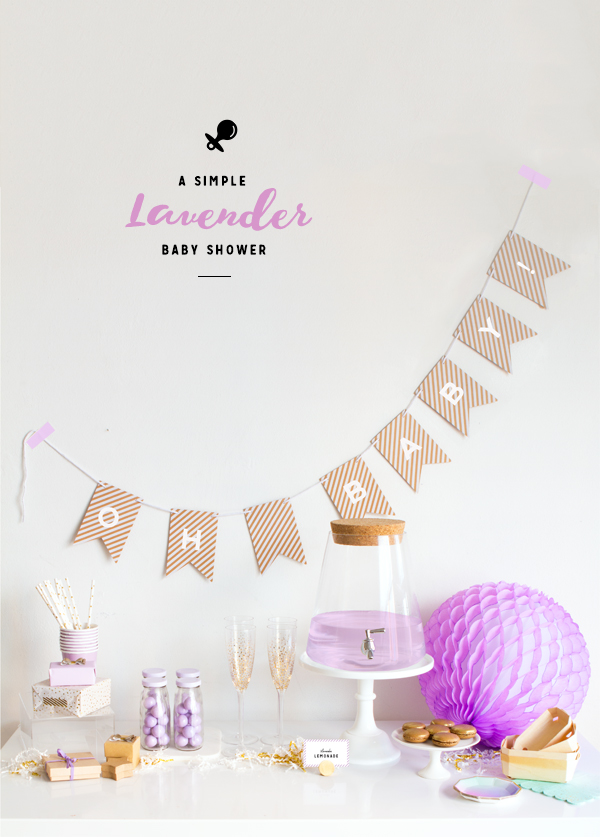simple lavender baby shower oh happy day