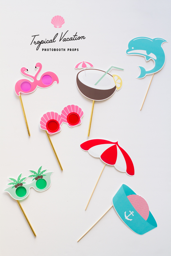 photo about Printable Props named Printable Tropical Getaway Picture Booth Props