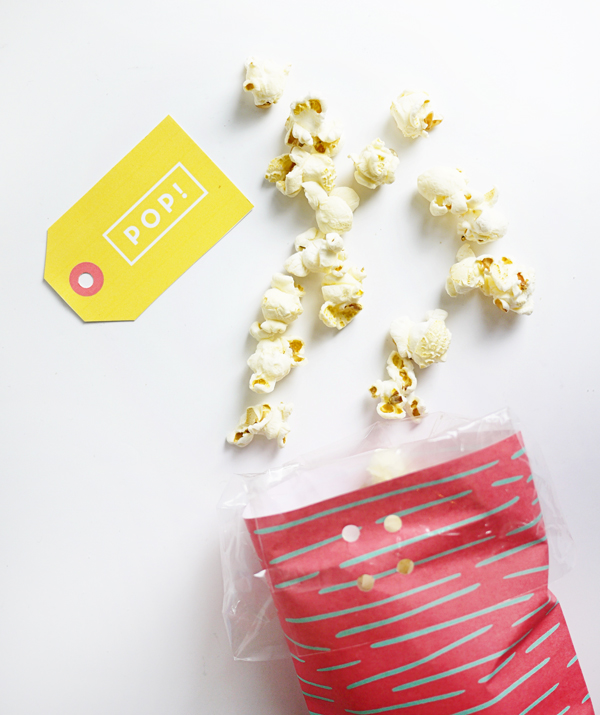 Printable Popcorn Bags | Oh Happy Day!