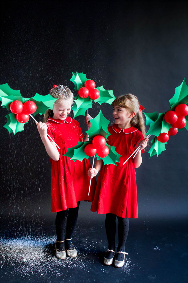 Holly Balloon Sticks | Oh Happy Day!