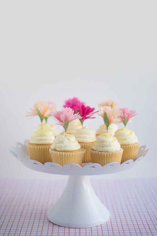 Carnation Cupcake Toppers DIY | Oh Happy Day!