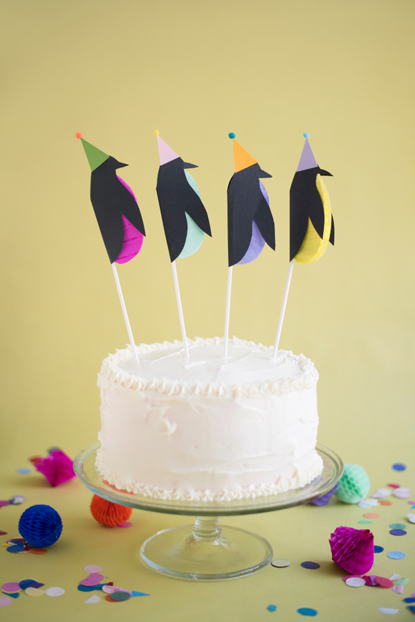 Penguin Cake Toppers DIY | Oh Happy Day!