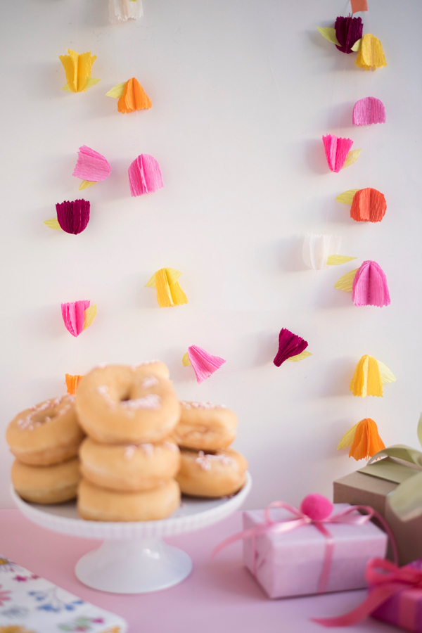 Crepe Paper Flower Garland DIY | Oh Happy Day!