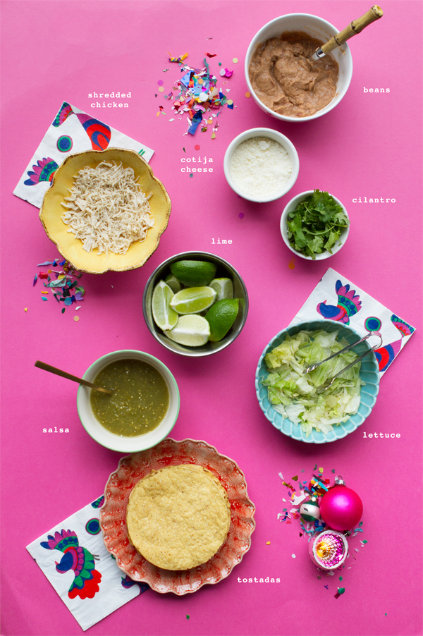 Holiday Tostada Bar | Oh Happy Day!