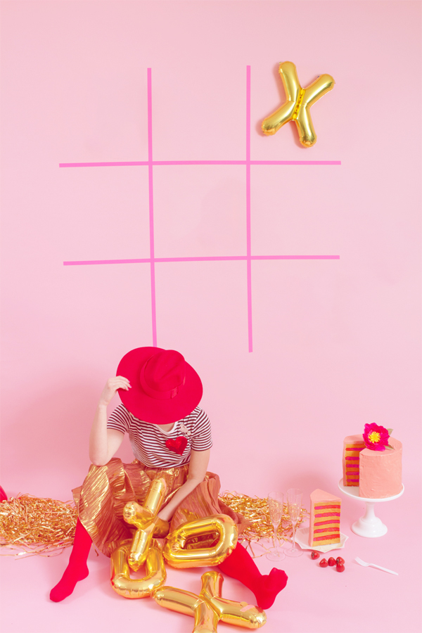 Valentine's Day Giant Tic Tac Toe | Oh Happy Day!