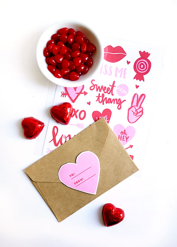picture relating to Valentine Stickers Printable titled Printable Valentine Stickers