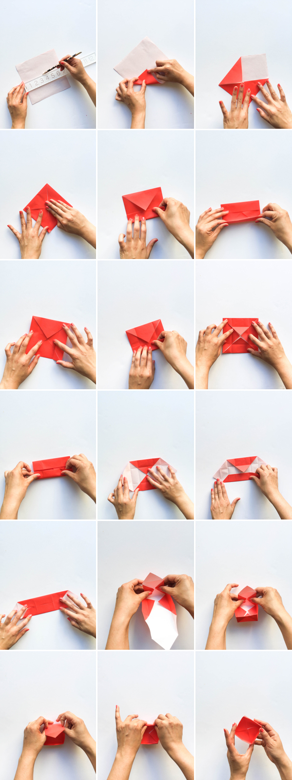Origami Snack Boxes DIY   Oh Happy Day!