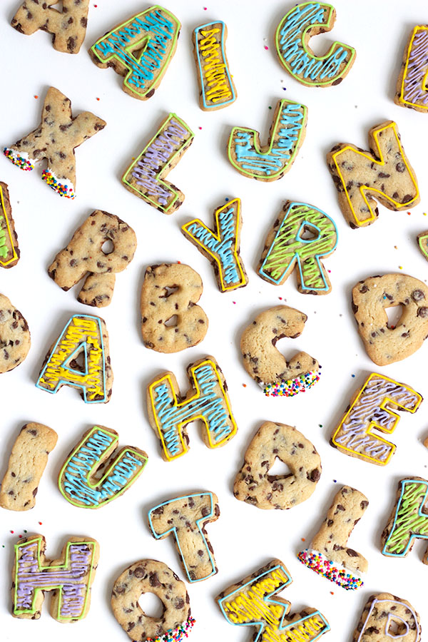 chocolate chip roll out letter cookies With letter cookies