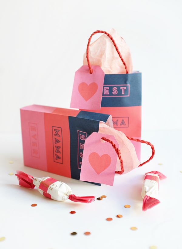 Printable Mother's Day Gift Bags | Oh Happy Day!