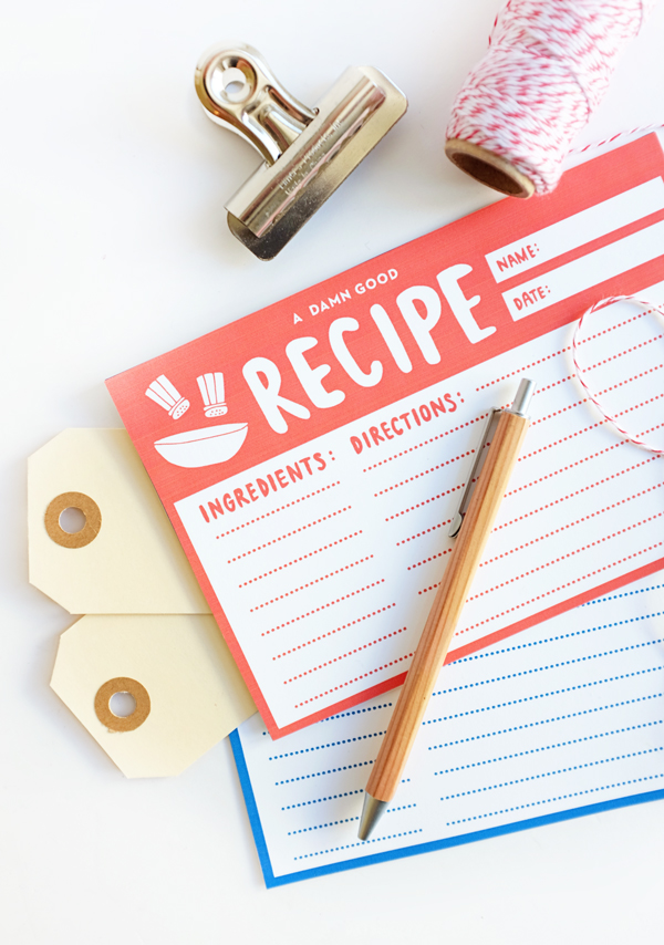 Printable Recipe Cards | Oh Happy Day!