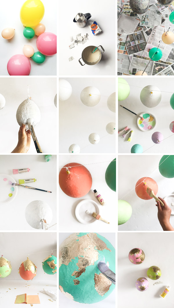DIY Papier Mache Easter Egg Centerpiece   Oh Happy Day!