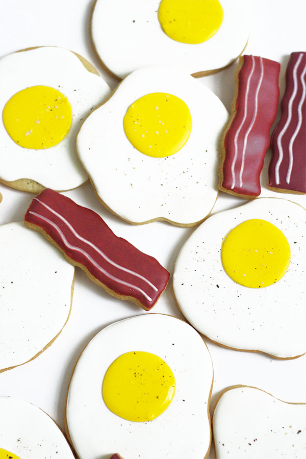 Eggs and Bacon Cookies | Oh Happy Day!