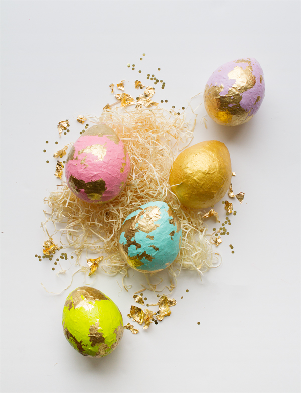 Diy papier mache easter egg centerpiece
