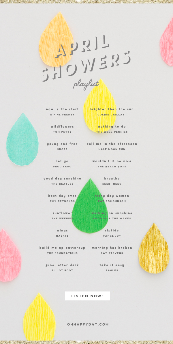 April Showers Playlist   Oh Happy Day!