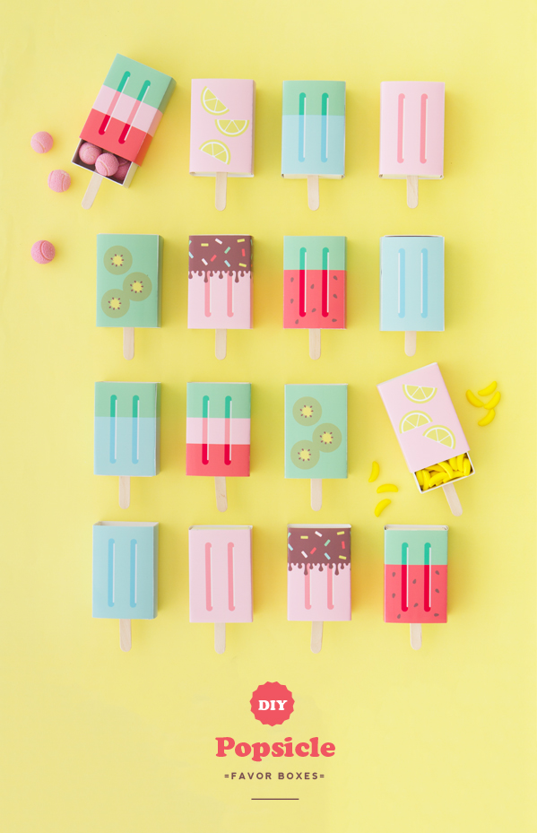 DIY Popsicle Favor Boxes | Oh Happy Day!