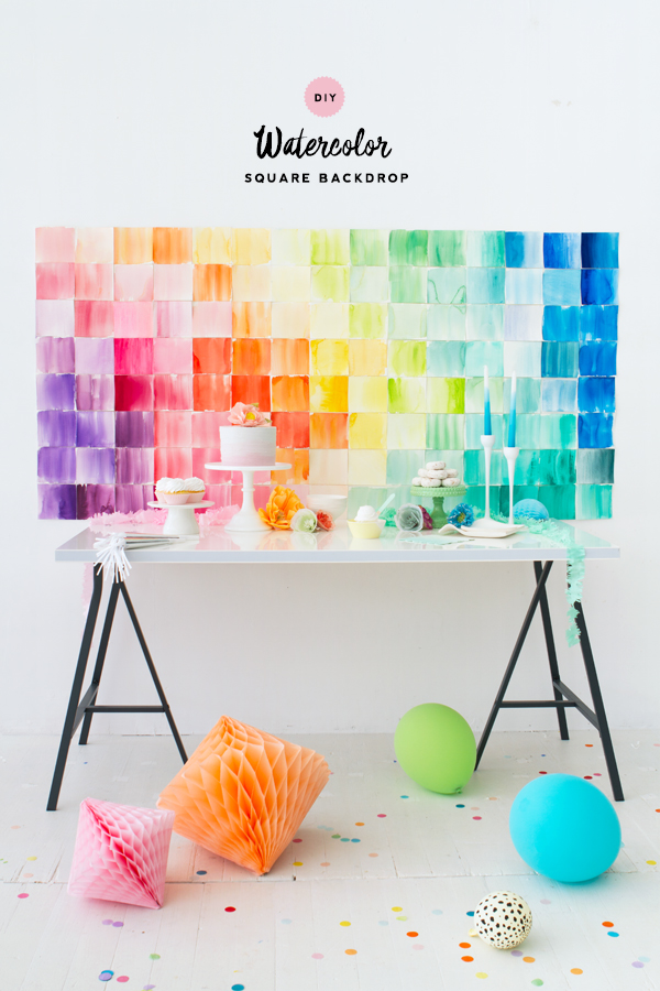 Diy watercolor paper squares backdrop solutioingenieria Choice Image