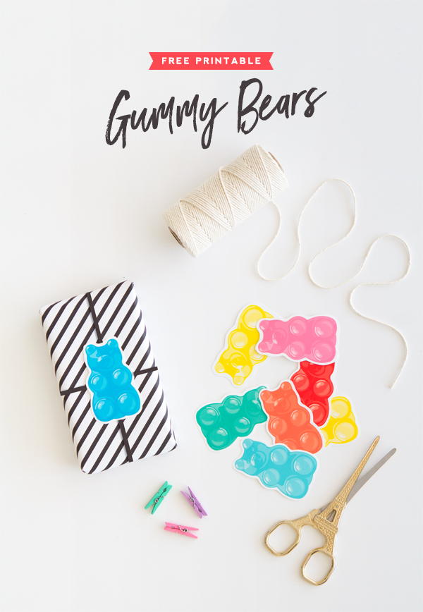 graphic regarding Gummy Bear Printable named Absolutely free Printable Gummy Bears