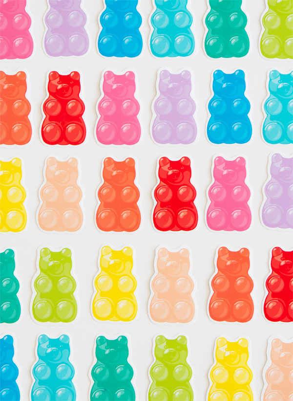 graphic about Gummy Bear Printable named Free of charge Printable Gummy Bears