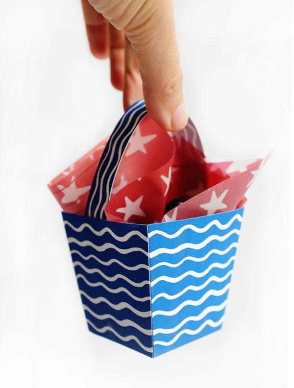 Printable Patriotic Berry Box | Oh Happy Day!