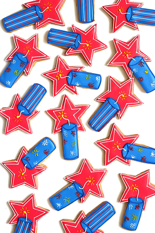 Firecracker Cookies for the 4th of July | Oh Happy Day!