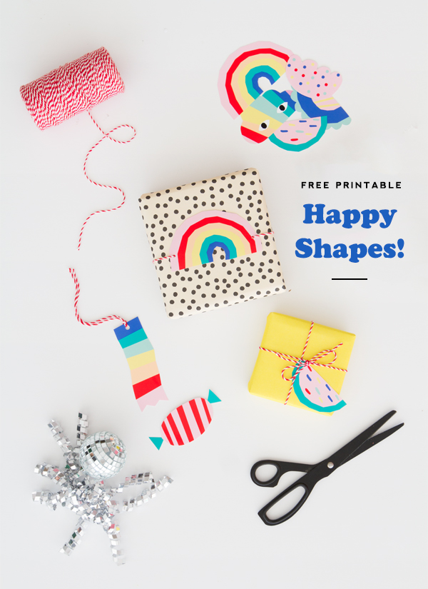 free printable happy shapes