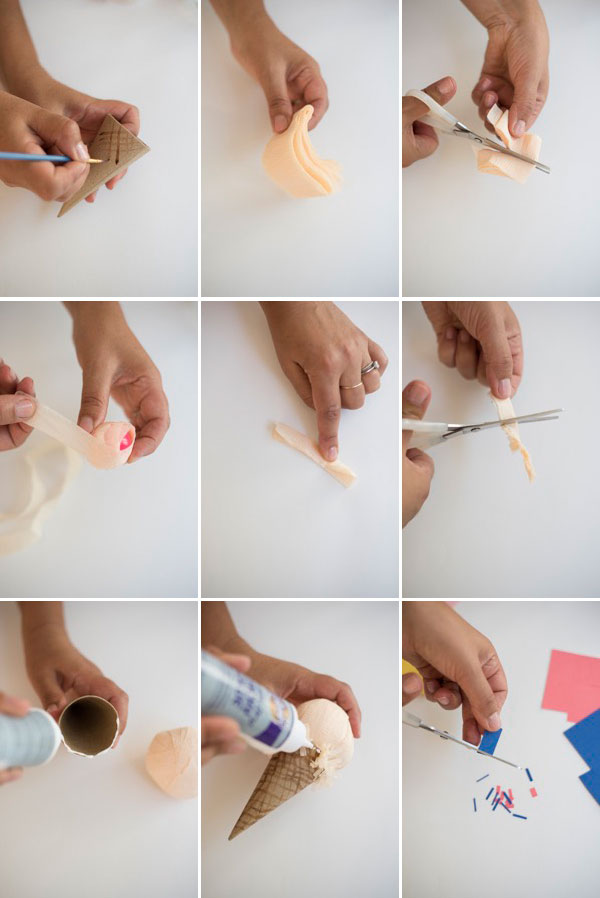 Ice Cream Cone Surprise Ball DIY  | Oh Happy Day!