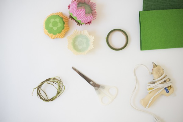 Cupcake Wrapper Flower Votives DIY | Oh Happy Day!