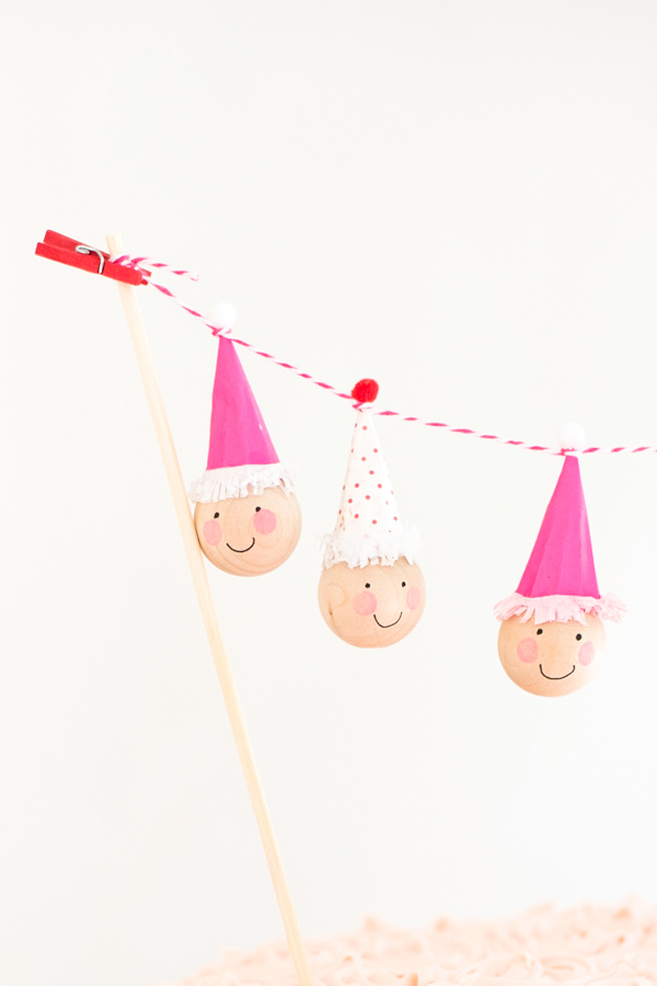 Mini Clown Cake Topper DIY | Oh Happy Day!