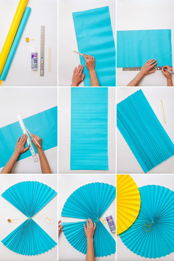 Giant Paper Fans | Oh Happy Day!