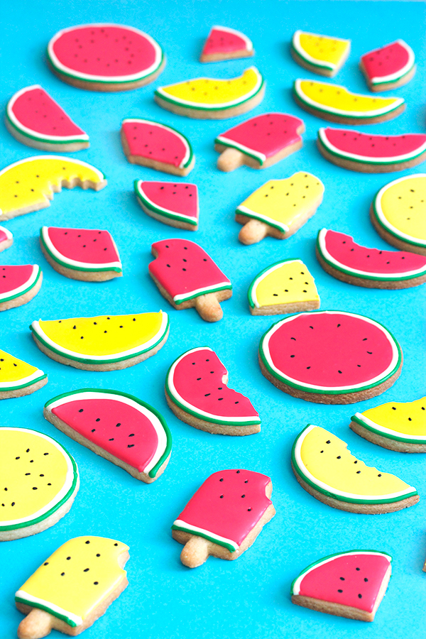 Summer Watermelon Cookies | Oh Happy Day!