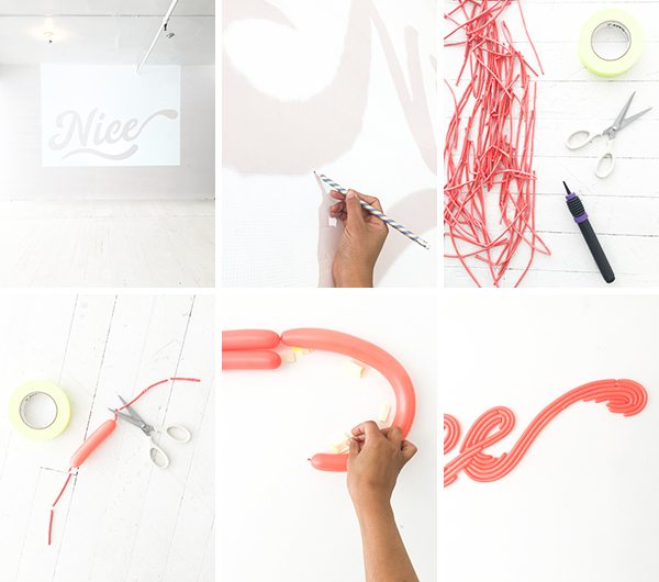 DIY Cursive Word Balloon Backdrop | Oh Happy Day!