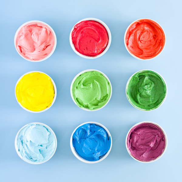Rainbow Buttercream Frosting Recipe | Oh Happy Day!