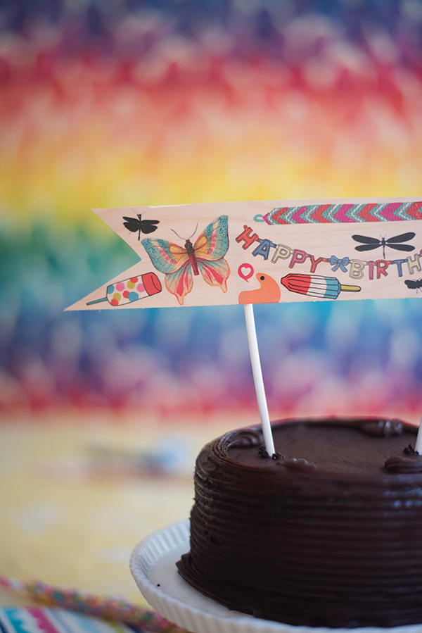 Tattoo Cake Topper DIY| Oh Happy Day!