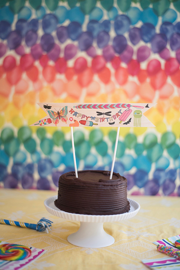 Tattoo Cake Topper DIY | Oh Happy Day!