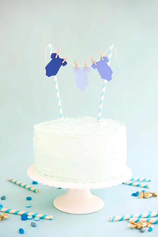 Baby Boy Onesie Cake Topper DIY | Oh Happy Day!