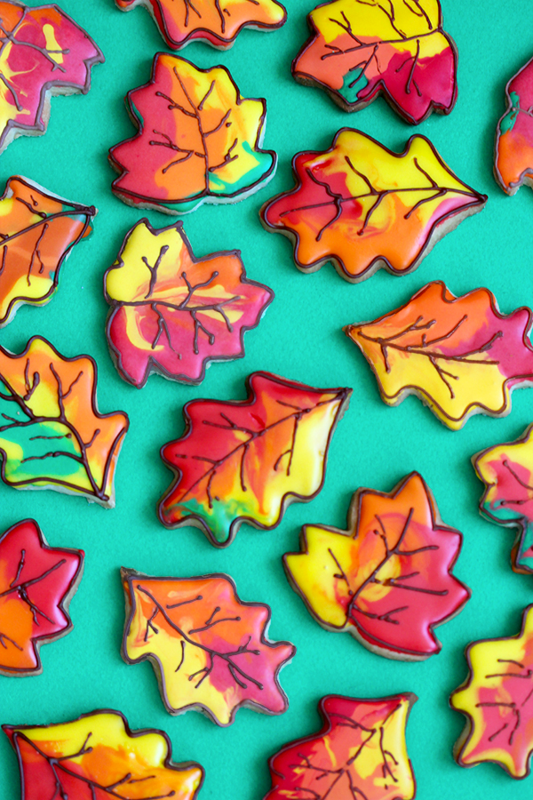 Fall Leaf Cookies | Oh Happy Day!