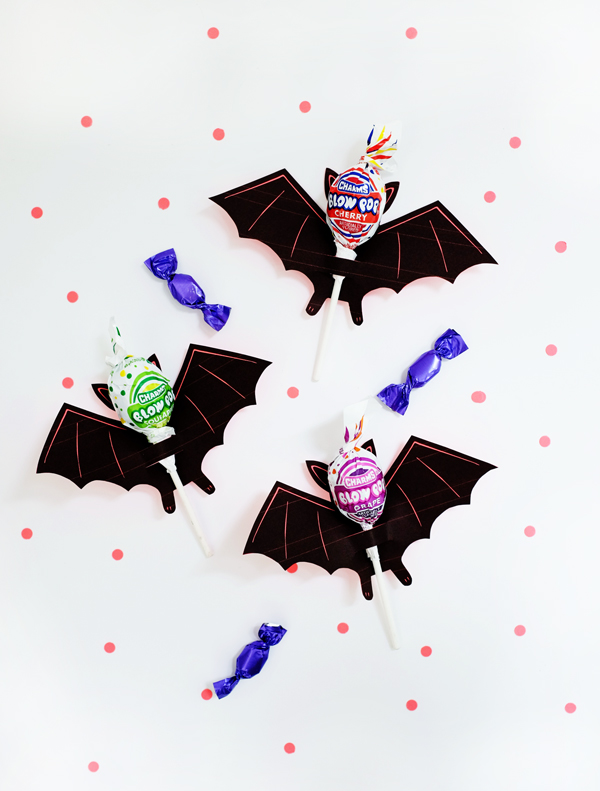 photograph relating to Bat Printable referred to as Printable Bat Lollipop Holder