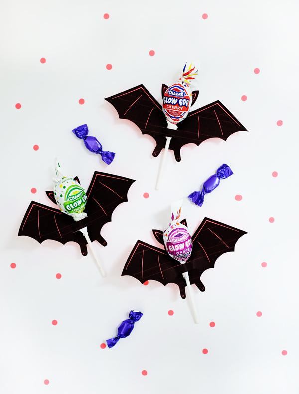 picture about Printable Bat identify Printable Bat Lollipop Holder