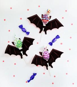 Printable Bat Lollipop Holder | Oh Happy Day!