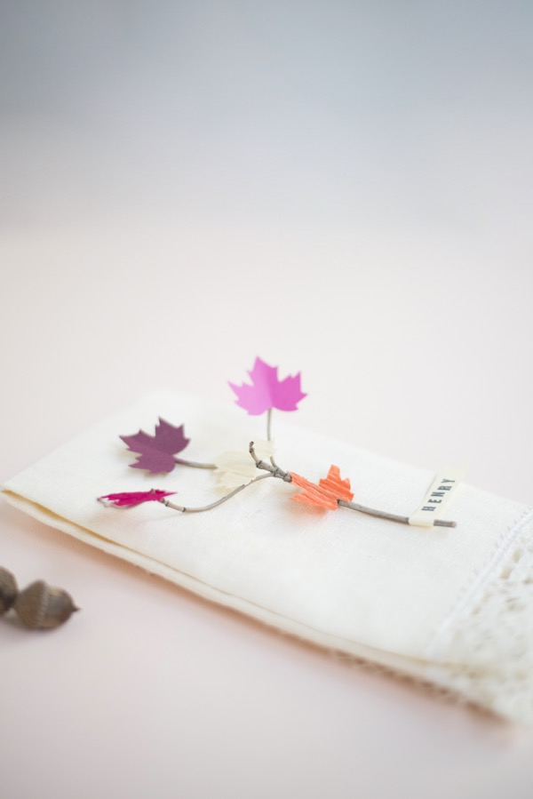 Leaf and Twig Place Cards DIY| Oh Happy Day!