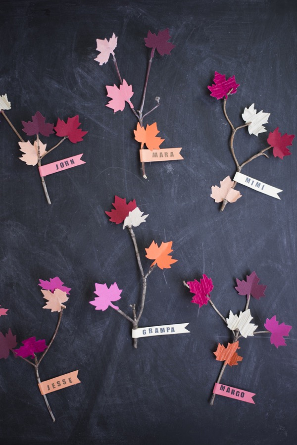Leaf and Twig Place Cards DIY | Oh Happy Day!
