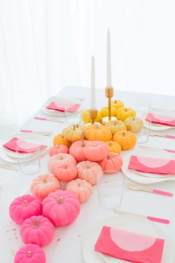 DIY Ombre Mini Pumpkin Centerpiece | Oh Happy Day!