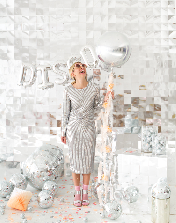Disco Ball Photobooth Backdrop | Oh Happy Day!