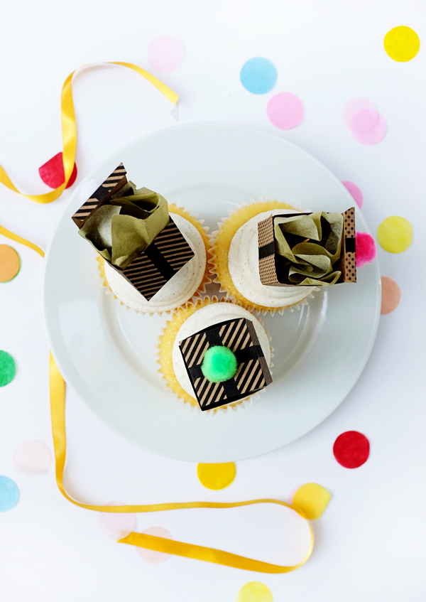 Printable Gift Box Cupcake Topper | Oh Happy Day!