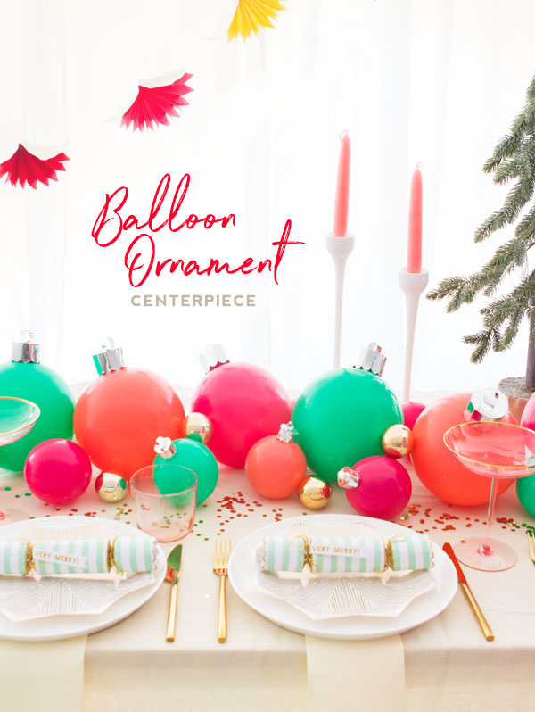 Balloon ornament centerpiece